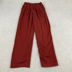 Elevenses Dress Pants Womens 6T Rust Wide Leg
